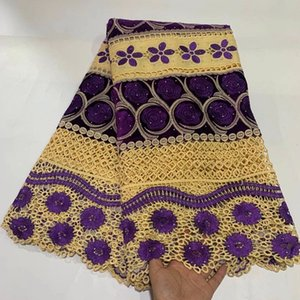 Skin friendly embroidery Guipure lace with stones Very soft African cord fabric Nigerian celebration for wedding Dresses sewing gown lace