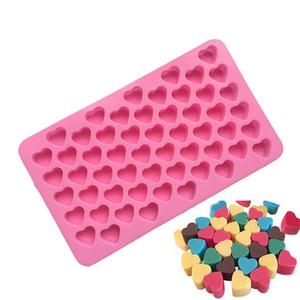 Silício moldes de chocolate forma do coração bolo silício gelo molde de silicone bandeja geleia moldes de cozimento do bolo Moldes T2I5768