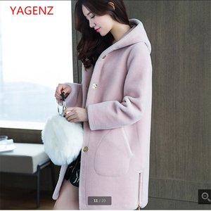 Top qualidade Lambs casacos de pele jovem mulheres Casaco de pele Moda Outono casaco NEW100% temperamento feminino traje Qualidade K2545 garantia