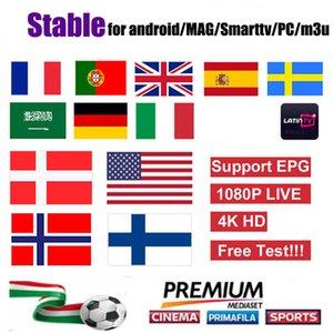 garantia de 1 ano OTT além Holandês americano UK Arabe Francês Alemanha Italia para a caixa android x96mini Linux MAG 322/250/254 m3u samrt tv