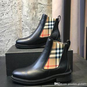 Nuove donne Vintage Controlla Designer Boots Particolare di lusso in pelle Scarpe Stivaletti moda delle donne casuali superiori di dimensioni 35-42 con box