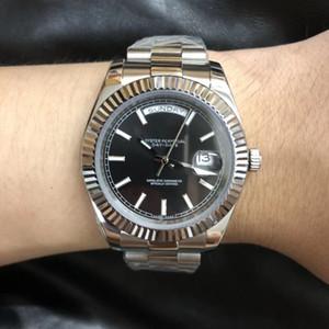 40мм U1 Завод DayDate Серебро Все Продукт сапфировое стекло Auotmatic движение U1 Quailty нержавеющей стали 316L Мужские Современные наручные часы