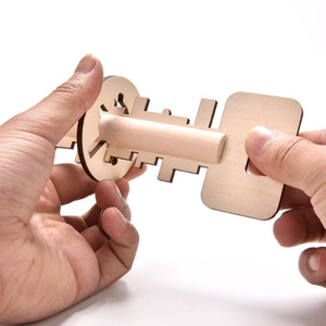 Inteligência Toy Key Unlock Puzzle Educação Brinquedos pré-escolar madeira fresco Toy