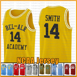 Mens Fresh Prince 14 Will Smith 25 Carlton Banks basquete Camisa 34 Jesus Shuttles-estima Ray Allen Lincoln filme Amor 22 McCall NCAA