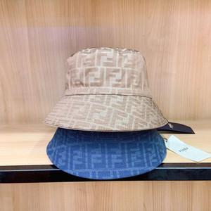 marchio di moda di lusso Secchio cappelli lettera colori bar su due lati del cappello di alta qualità nero classico cappellino di viaggio del pescatore bianco Uomini e Donne
