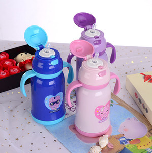 350ml Cartoon Sippy Cup Kids Water Bottle Portable Children Tumbler Travel Mug with Lid and Handle