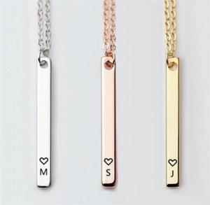 Moda 26 pingentes letra inicial Colar mulheres Marcar Jóias Prata Coração alfabeto Inglês Choker Fine Jewelry T519