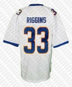 Özel Tim Riggins # 33 Friday Night Lights Film Futbol Jersey Beyaz Dikişli Herhangi bir isim numarası XS-5XL