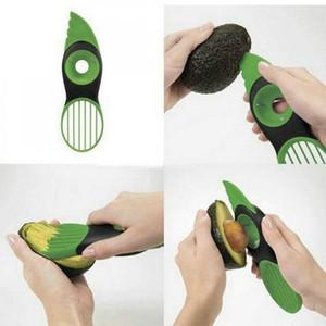NOVA 3 Em 1 abacate Slicer Shea Butter Corer Fruit Peeler cortador Pulp Separator faca de plástico de cozinha vegetais Ferramentas Início Acessório DHL723