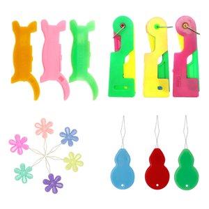 Assorted 15 Automatic Needle Threader Idosos fácil de usar Tópico Guia Needle Dispositivo Use Ferramenta Threader Dispositivo Guia Needle Fácil Idosos