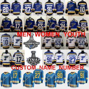 2019 Stanley Cup 결승 챔피언 St Louis Blues 저지 블라디미르 Tarasenko Jaden Schwartz Binnington 알렉스 Pietrangelo Ryan Colton Parayko