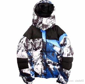 Вид на горы Baltoro пуховиков Мода 17FW Mountain ветрозащитной Толстой Верхней одежду Snow Jacket