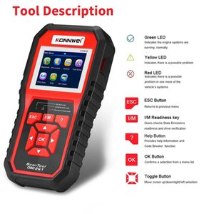 KONNWEI KW850 OBDII EOBD Car Computer Fault Scanner Code Reader Diagnostic Tool Is Available In Eight Languages