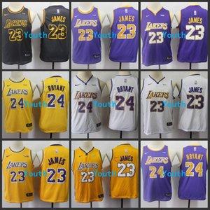 Los AngelesLakersKobeBryantLeBron James Swingman Youth Kids Boys Basketball Jersey