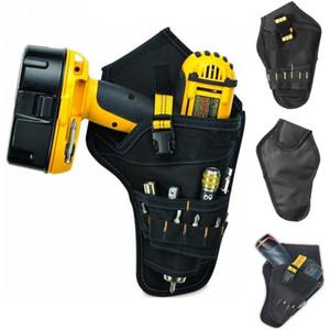 Herramienta del electricista portátil de cinturón bolsa bolsa de Impacto conductor taladro eléctrico Taladro Funda Soporte de herramienta de la cintura bolsa de almacenamiento