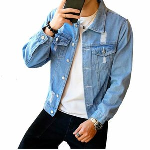 Yeni Denim Ceket Erkek Erkek Hip Hop Erkekler Retro Denim ceketler Sokak Casual Bombacı Ceket Harajuku Moda Coat