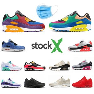 Nike air max 90 airmax Stock X VIOTECH OG 90 Mens Running Shoes Mixtape South beach Raptors 90s Neon Accents men women sports designer sneakers 7339044 7427086