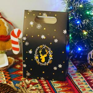 Şeker Çanta Gece Sky Geyik Kağıt Çanta Noel Hediyesi Kutusu Çikolata Noel Kutusu Firma Tatil Hediye ZC1572