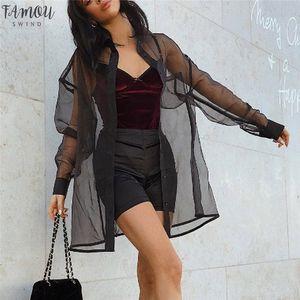Mesh Top Long Sleeve Print Long Sleeve Women Clothes 2020 Top Shawl Outwear Fashion Women Casual Blousers G7