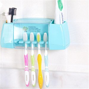 1pc aspirazione Ganci Spazzolino Holder Dentifricio set da bagno spazzolino da denti Coppa Container ripiani bagno Accessori Bagno