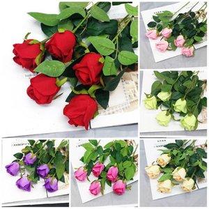 Dia bouquet única simulação do Valentim levantou-Decoração do casamento Flannelette subiu Partido decoração com flores T9I00363