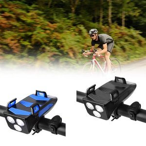 Bike Light USB Rechargeable Phone Holder Led New Light Horn Cycling Bicycle Highlight Power Bank 2000 4000mAh X2X8