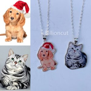 Custom Pet Necklace Personalized Jewelry Custom Full Color Jewelry Photo Pendant Engrave Name Sterling Silver Dog CAT portrait