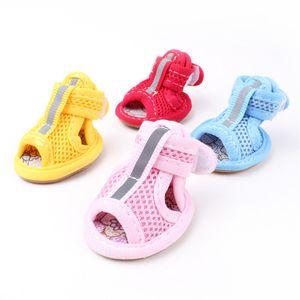 حار بيع الكلب الصنادل لربيع وصيف تنفس لينة شبكة عارضة الأحذية المضادة للانزلاق كلب صغير لطيف الحيوانات الأليفة الأحذية