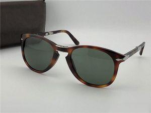 Lunettes de soleil de luxe Lunettes de soleil Mens Sunglasses Sunglasses Designer Sun Lunettes Classic Retro Pilot Cadre pliante 714 avec étui en cuir