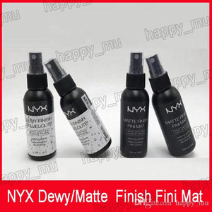 NYX Dewy Finish Fini Mat NYX Dewy Finish Fini Veloute 매트 마무리 마스카라 세팅 스프레이 오래 지속되는 세팅 스프레이 60ML Face Beauty