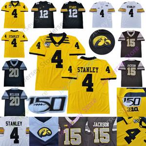 Özel IOWA Hawkeyes Futbol Jersey Koleji Nate Stanley Mekhi Sargent Ihmir Smith-Marsette Toren Genç Josh Jackson Tyler Goodson Nico Rag