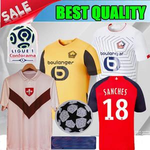 19 camisetas de fútbol 20 LOSC Lille 75 aniversario 2019 2020 Lille especiales blanca Sanches edición maillots BAMBA Yazici camisas niños del fútbol