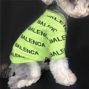 Письмо печати Свитеры Собака Кошка Универсальный Pet Свитера Открытый Спорт Dreee Up Одежда для собак Бесплатная доставка