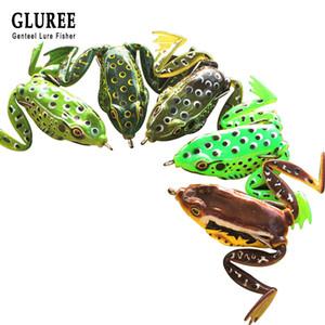 оптовая 5шт / Lot Ray Frog рыболовную приманку 5см Силиконовая резина мягкая приманка Topwater Frog Искусственная приманка рыболовные снасти Multicolor