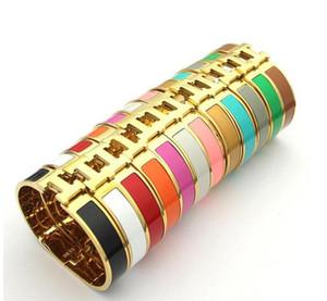 En kaliteli klasik altın colorBrand Paslanmaz çelik 12mm genişlik aşk bilezik bilezik için Bilezikler Bileklik Harf Toka Bilezikler İçin Kadınlar w