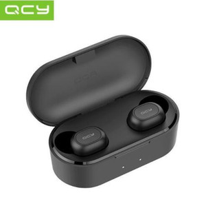 Новое прибытие QCY T2c TWS 5,0 Наушники Беспроводные наушники Наушники 3D стерео Спорт Музыка шумоподавлением гарнитура с зарядным Box