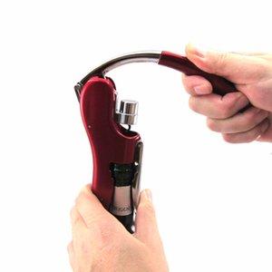 Alimentation en alliage de zinc ouvreur de vin Bouteille Tire-bouchon Ouvre Foil intégré Cutter haut de gamme Lapin Levier Tire-bouchon pour vin Accessoires de cuisine Outil