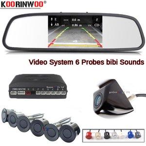 Koorinwoo Auto Parktonic Car Parking Sensor Set 6 BIBI автомобильный монитор зеркало заднего вида парковка Camra детектор автомобиля Слепая зона