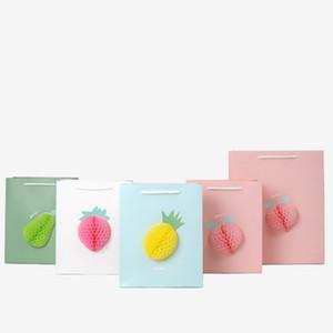 Presente pano presente Gift Paper Bag 3D aniversário Pacote de Compras Saco da flor tridimensional Papel Origami saco de armazenamento