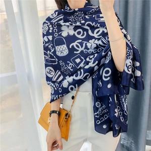 4 colores de moda de alta calidad de la marca de cuatro estaciones pañuelos de seda super largo de turismo las mujeres del diseñador chal de gasa bufandas Restor suave al por mayor