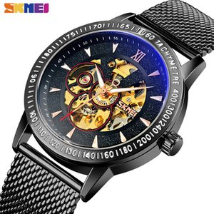 SKMEI Luxury Automatic Watch Men Creative Hollow Dial Luminous Pointer Mechanical Mens Watches Waterproof relojes hombre 9216