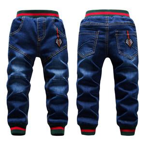 Winter Große Jungen Jeans Hosen Kinder Verdicken Hinzufügen Wollhose Lässig Waschen Blaue Jeans Denim Samt Oberbekleidung Warme Hosen