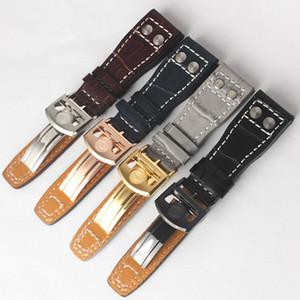 Nouveau Watchband 22mm vraie vache véritable montre en cuir Sangle de ceinture pour IWC Big Pilot Montre Band Livraison gratuite