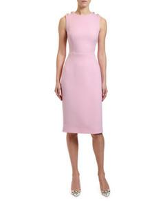 Milan Runway Designer 2020 Розовых рукава Женского платье High End Lily Керамик Vestidos De Festa