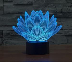 Çocuk Hediyesi için Gece aydınlatması LED Lotus Dokunmatik USB Masa Lambası 7 Renk değiştirme Ev Dekorasyonu