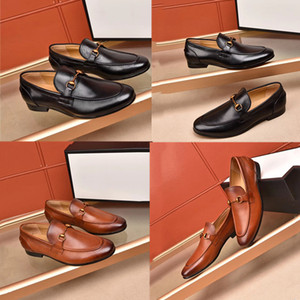 High quality Formal Dress Shoes For Gentle Luxury designer Men Genuine Leather Shoes Pointed Toe Mens designer Business Oxfords Casual shoes