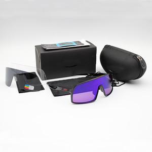 Nuovo OO9406 Ciclismo Occhiali da sole del progettista di marca Sutro delle donne degli uomini di moda gli occhiali da sole polarizzati di sport esterni TR90 Occhiali 3 coppie Lenti