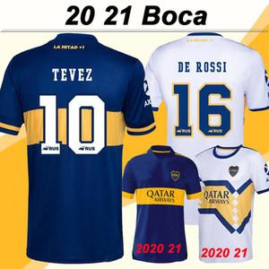 20 21 Boca Juniors DE ROSSI CARDONA GAGO Inicio Bule fútbol jerseys TEVEZ Aliba blanco ausente de las camisas del fútbol PAVON Corto Camisetas de futbol