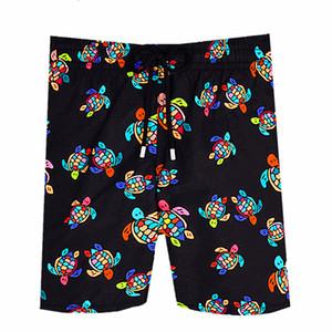 Vilebrequin playa para hombre Pantalones cortos pulpo troncos marca francesa 003 de la tortuga de mar impresión Bermudas pantalones cortos traje de baño masculino de secado rápido