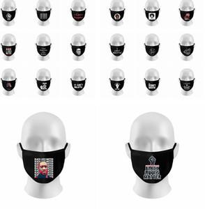 Я не могу дышать Маска протеста крышка лица Маска для лица ткань черная маска моющаяся BLM Black Lives Matter хлопчатобумажная маска LJJK2219